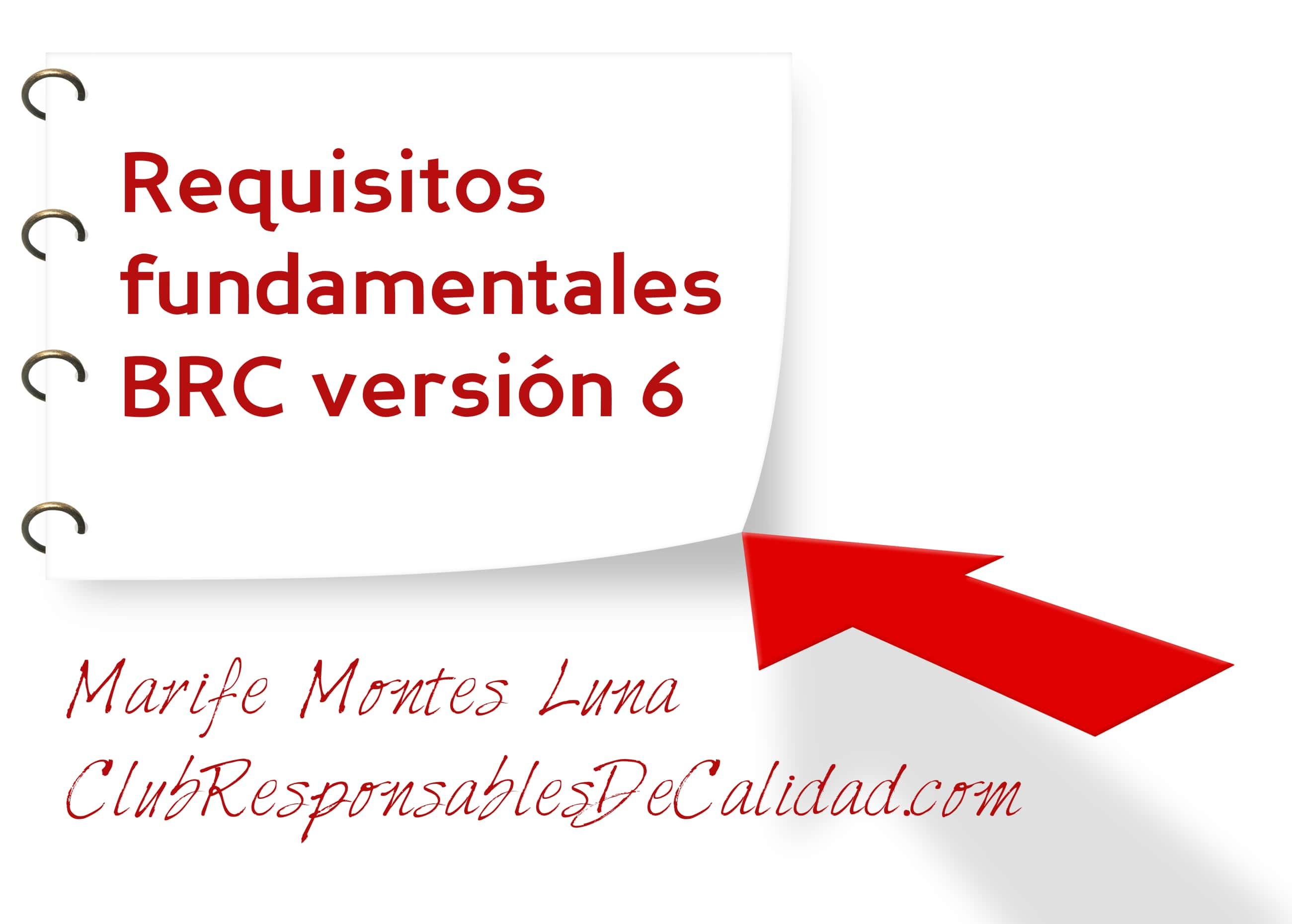 Requisitos fundamental BRC version 6