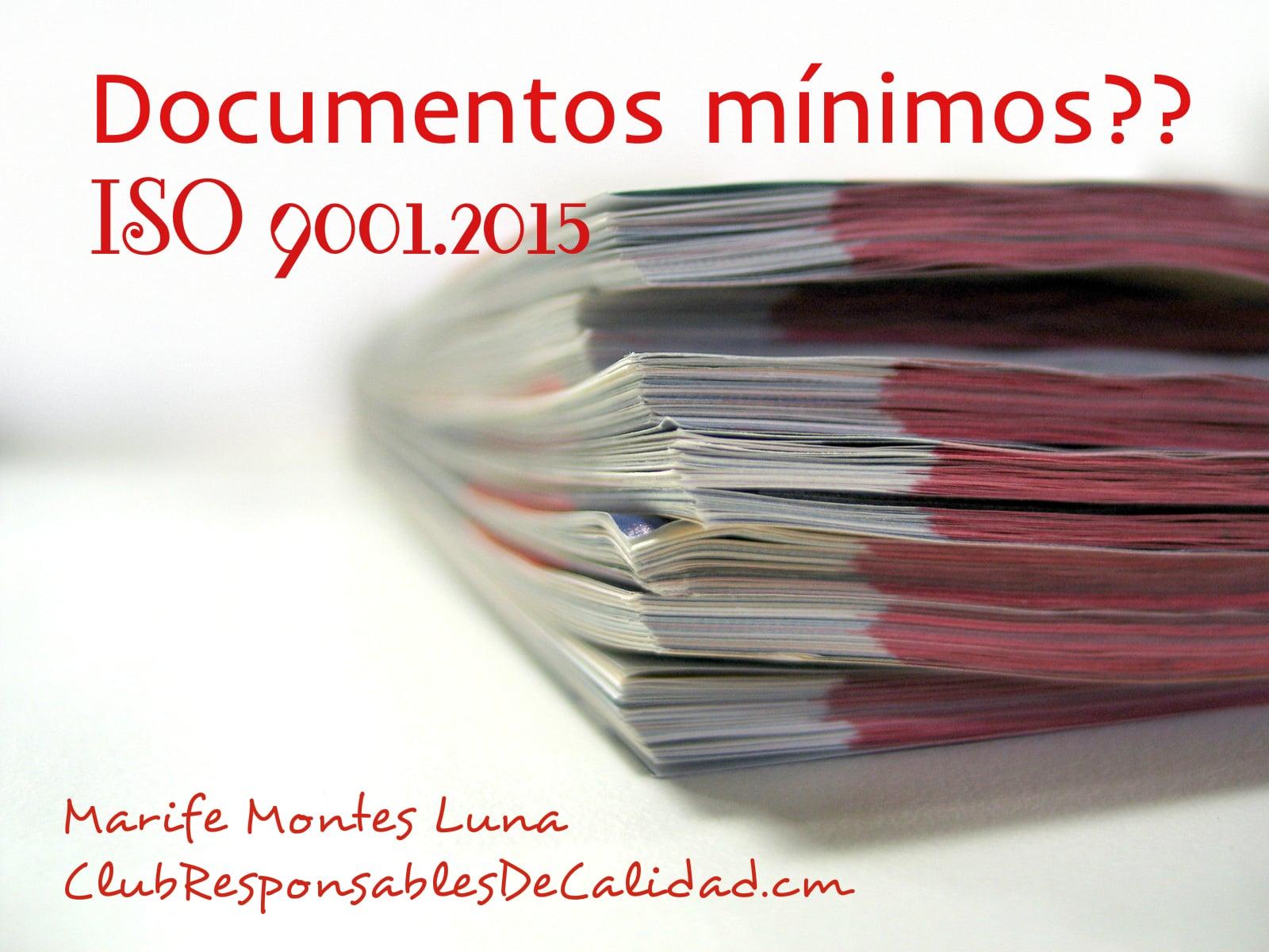 documentos iso 9001