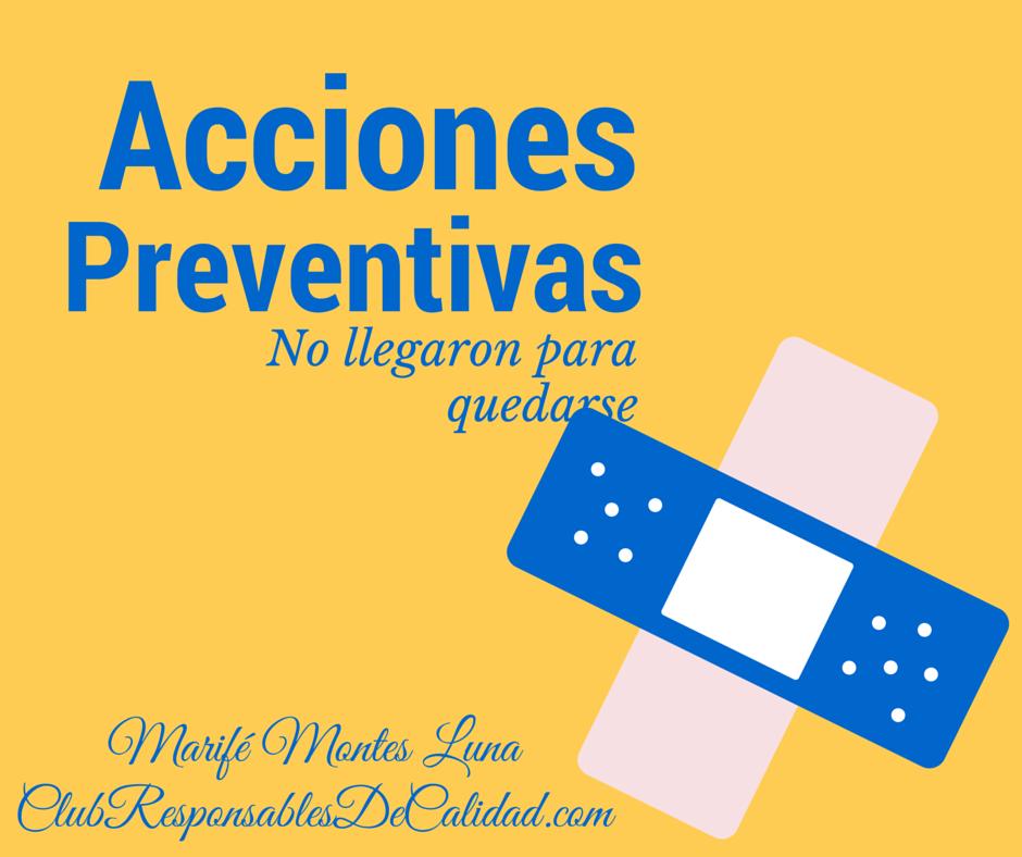acciones preventivas