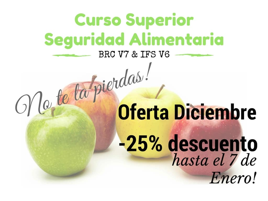 Curso Seguridad Alimentaria (BRC v7 + IFS v6)