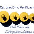 calibración y verificación