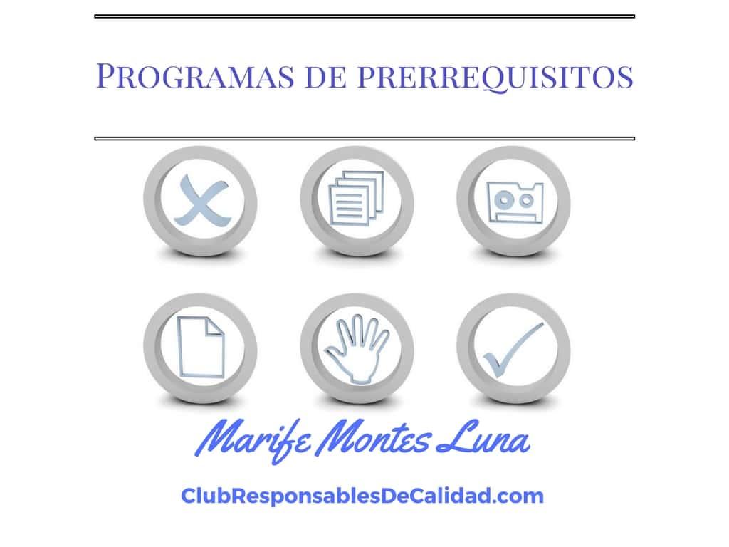 Programas de prerrequisitos
