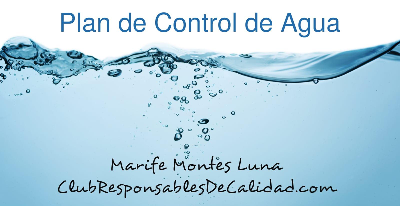 plan de control de agua